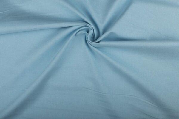 Katoen stof middenblauw