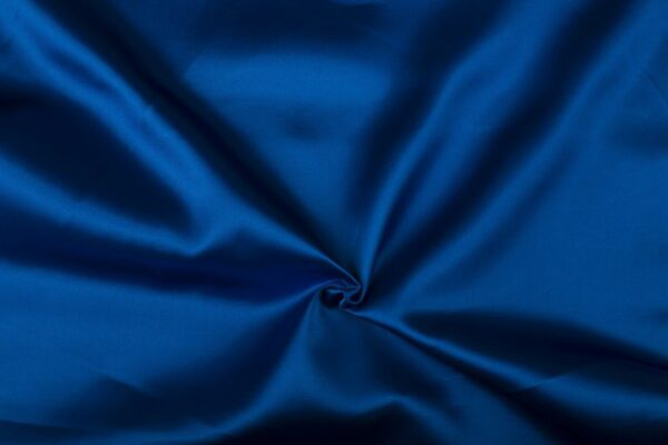 Satijn stof blauw