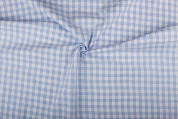 Geruite stof blauw wit