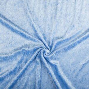 Velours stof blauw