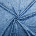 Velours stof lichtblauw