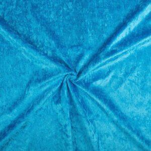 Velours stof Waterblauw