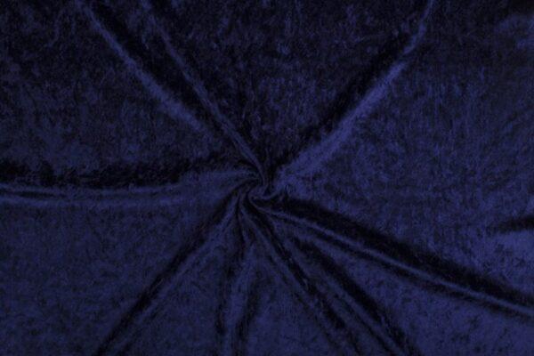Velours de panne marineblauw