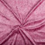 Velvet stof donkerroze