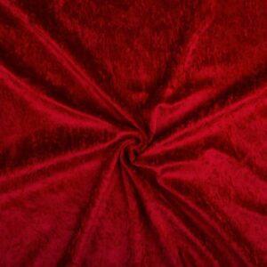 Velvet stof donkerrood