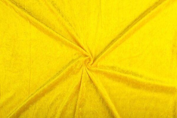 Rekbare stof geel velours