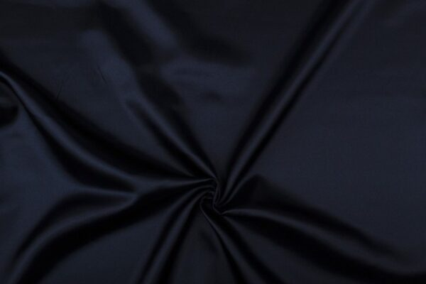 Satijn stof marineblauw