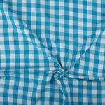 Blauw wit geruite stof