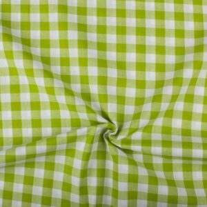 Groen wit geruite stof
