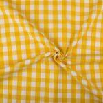 Geruite stof geel