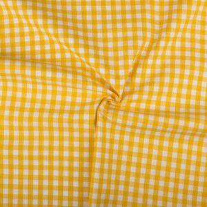 Ruitjesstof geel