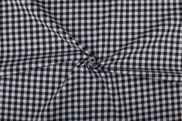 Zwart wit geruite stof