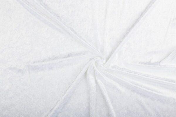 Velours stof wit