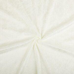 Velours de panne gebroken wit