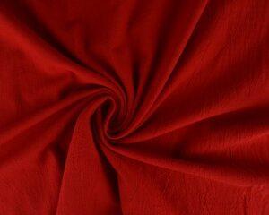 Gewassen katoen - Rood