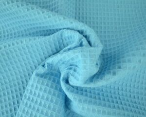 Aqua blauwe wafelstof