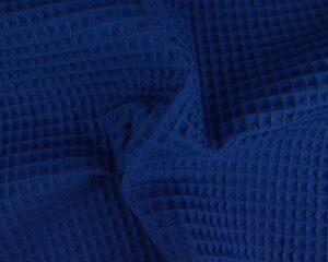 Donkerblauw wafelstof