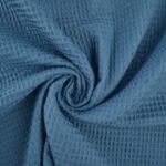 Staalblauw wafelstof
