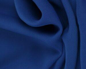 Blauwe chiffon stof