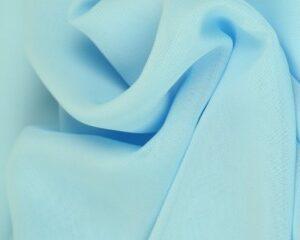 Baby blauwe chiffon stof