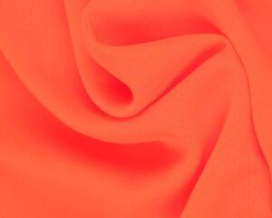 Neon oranje chiffon stof