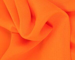 Oranje chiffon stof