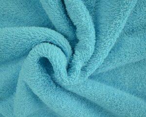 Aquablauwe badstof