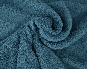 Staalblauwe badstof