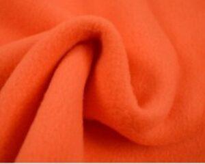 Donker oranje fleece stof