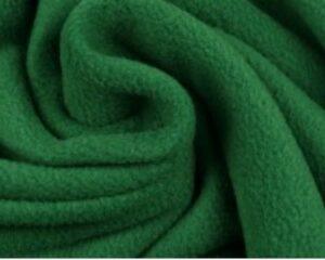 Donkergroene fleece stof