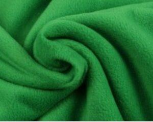 Groene fleece stof
