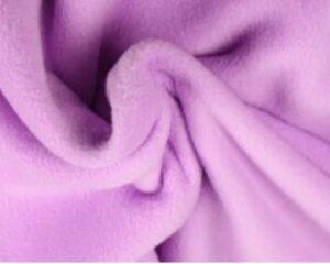 Lila fleece stof