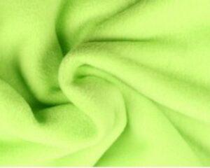 Limoengroene fleece stof