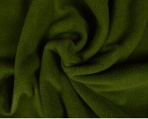 Mosgroen fleece stof