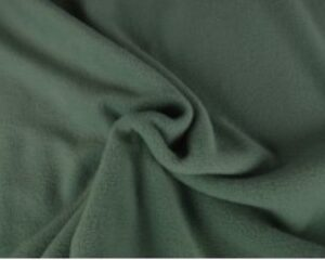 Oud groen fleece stof
