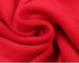 Rode fleece stof
